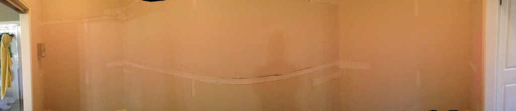 Plain, panoramic - gutted and before paint.